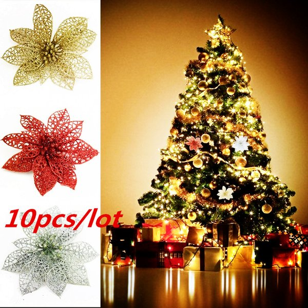 Hollow Xmas Flowers Artificial Christmas Hollow Flower For Christmas Tree  Decorations Ornaments Wedding Decor Christmas Decoration Accessories
