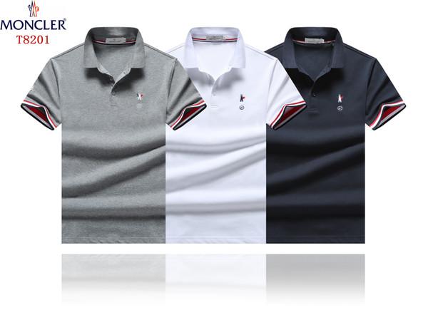 HOT Fashion Brand M y Rooster Logo Polo Hombre MON002 Francia famoso diseñador Verano manga corta Tops Luxurys tees hombre camiseta de solapa