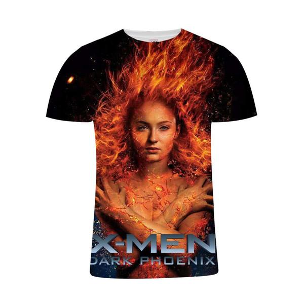 Newest movie X-Men:black Phoenix 3d t shirt men/women 3D printed t-shirts Marvel Harajuku style summer tshirt streetwear tops