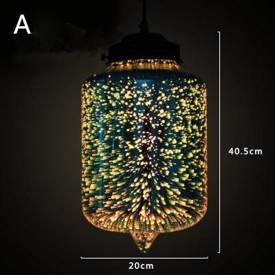 Современные 3D красочные романтические Звездное небо подвесной Абажур Подвесной Светильник Светильник E27 для спальни Ресторан гостиная