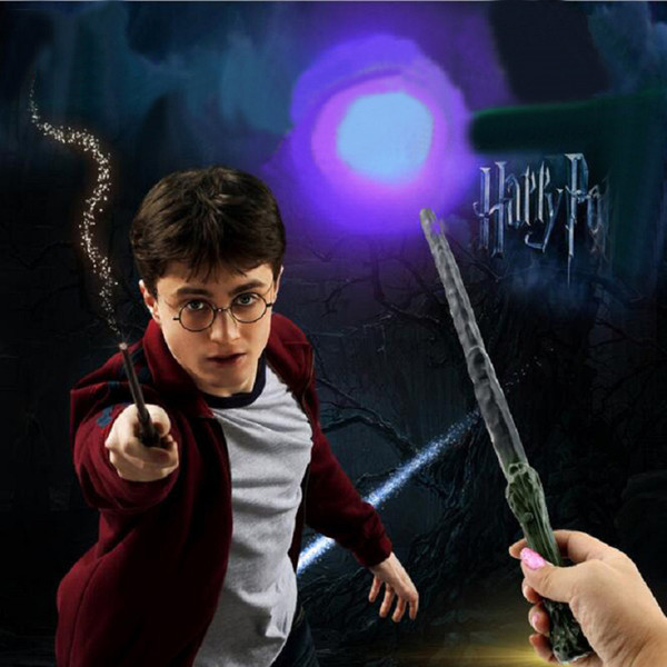 Harry Potter Flashing Props School Magic Led Light Wand Anime Figure Toy Children Halloween Party Show Gift Luminous Props Kids Bithday Toys