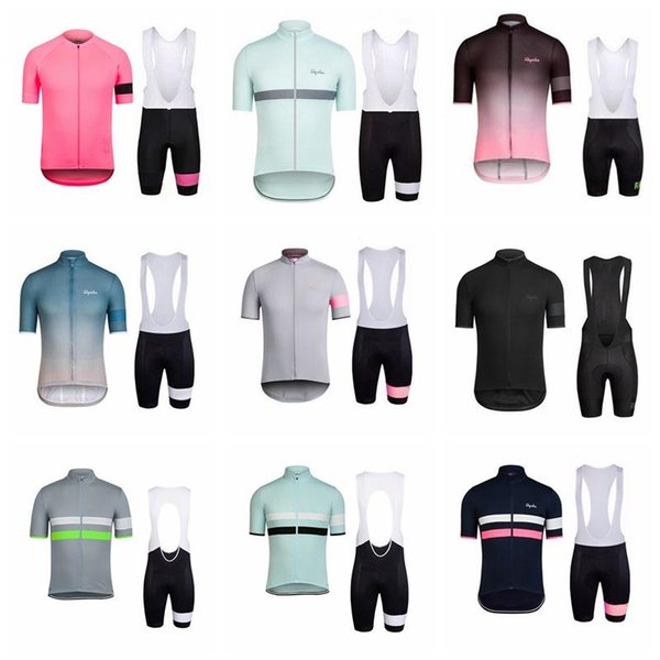 RAPHA 2018 Summer Cycling Jersey Team Bike Wear High Quality Ropa Ciclismo Bike Clothing Men New Short Sleeve Set T2183