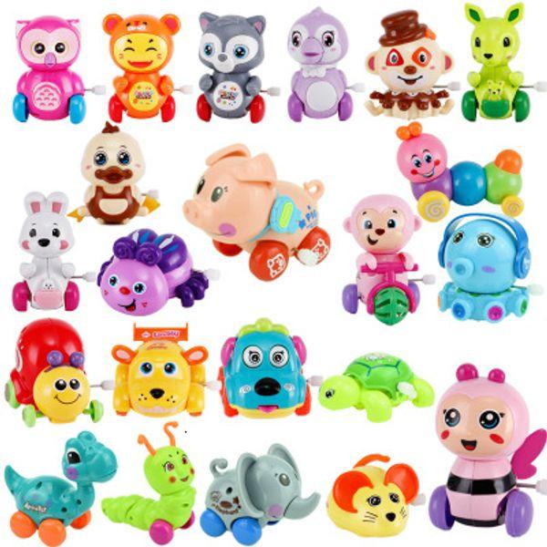 10 adet Bebek Komik Çocuk Oyuncakları Bahar Clockwork Oyuncak Mini Geri Çekin geri atlama Kurbağa / Köpek / Aslan Oyuncaklar Kadar Çocuk Boys için SH190913