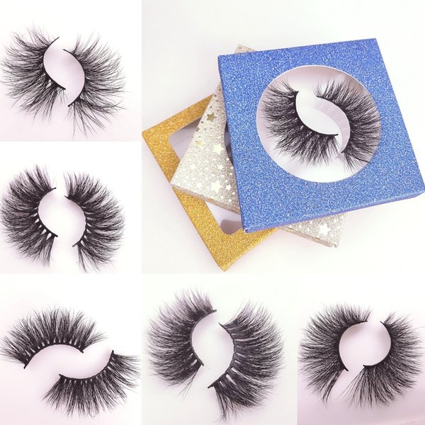 Hot Sale 25mm 5D Mink Handmade False Eyelashes Wholesale Individual Soft Wispy Cross Curling Strip Extension Beauty Tools Free Shipping