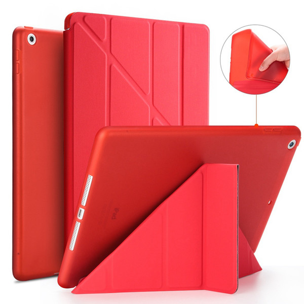 Smart Leather Cover for iPad Mini 2 3 4 5 2019 iPad Pro 9.7inch 11inch Silicone Soft Back Case Stand Flip Cover