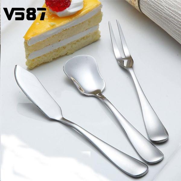 Atacado-5 pçs / lote utensílio talheres faca de manteiga de gergelim colher queijo sobremesa Jam propagador de mesa de café da manhã ferramenta jantar facas