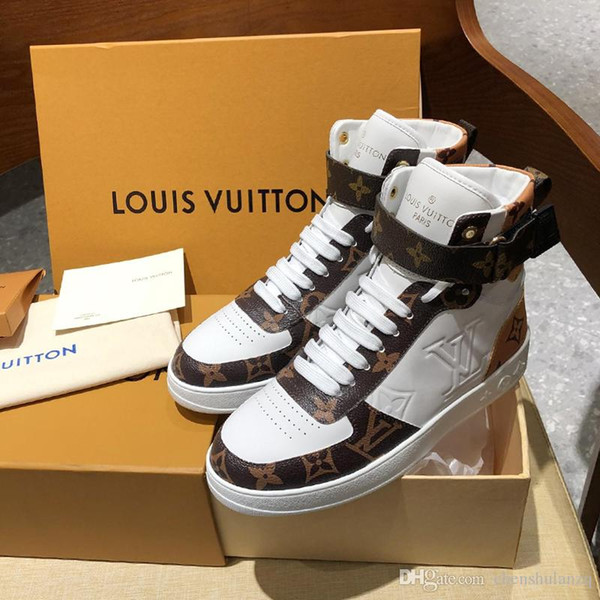 Top quality Luxury Mens Womens leather high top casual sport shoes,New listing personality fashion wild Couple Casual shoes size 35-46 0057