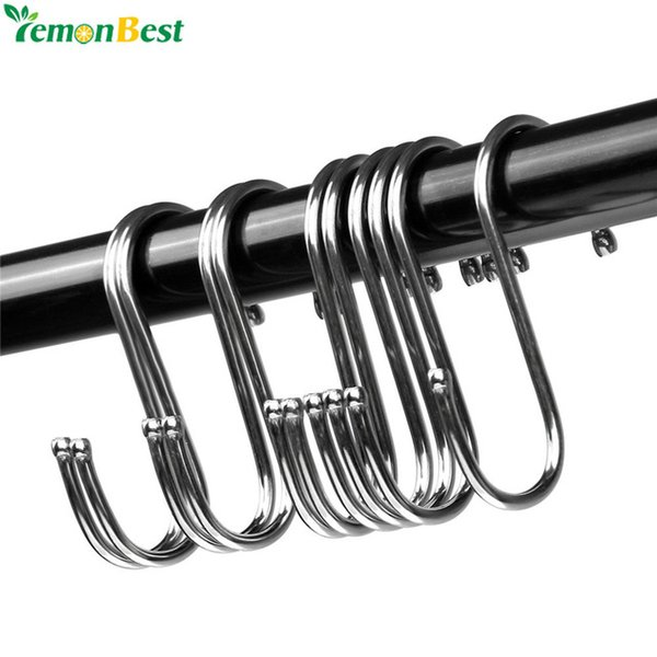 ome Storage Organization Hooks Rails(to be deleted) Powerful Stainless Steel S Shaped Hanger Hook Kitchen Bathroom Clothing Hanger Hooks ...