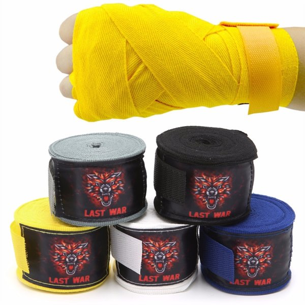 cotton muay thai Elastic bandage Boxing Sanda fight Bodybuilding tape Fitness straps bandage wrist #119697