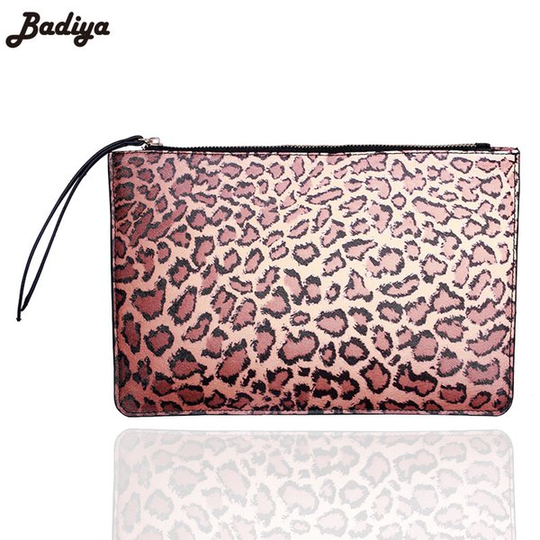 Fashion Leopard Women Handbag Badiya Ladies Day Clutches Portable Zipper Packet Animal Prints Female Clutch Handbags