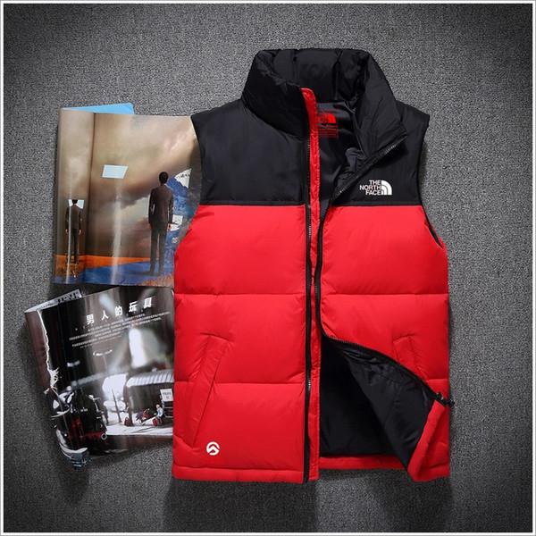 Modemarke Männer Winter Warme Daunenweste Feder Kleid Jacken north Mens Outdoor Wasserdichte Daunenwesten Mantel Mann Jacke Weste Gesicht