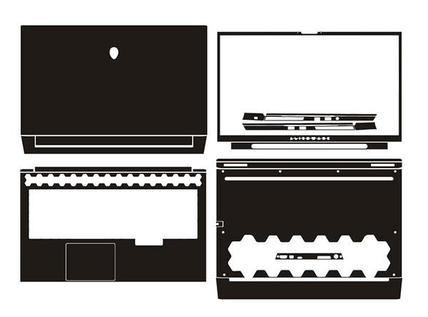Laptop-Aufkleber-Haut-Abziehbild-Carbonfaser-Abdeckung Schutz für die neuen 2019 Alienware M17 R2 17.3