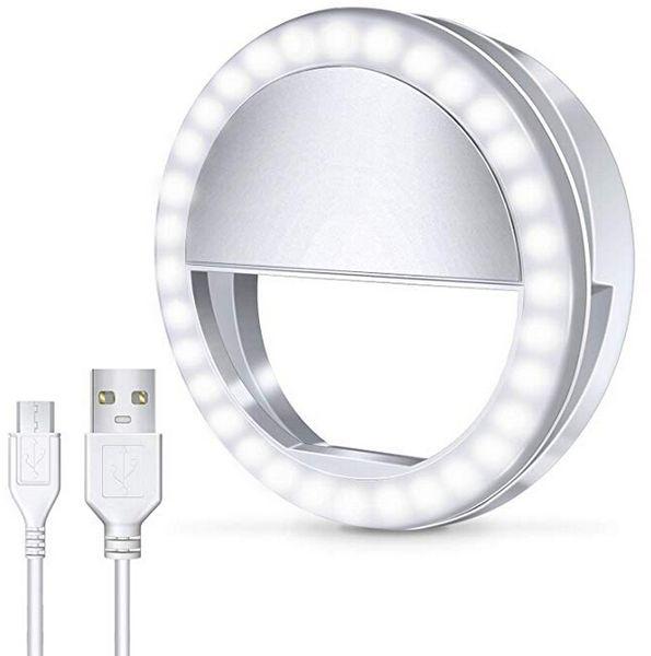 Universal LED Light USB Selfie Light Ring Light Rechargeable Flash Lamp Selfie Ring Lighting Camera Photography for all cellphones
