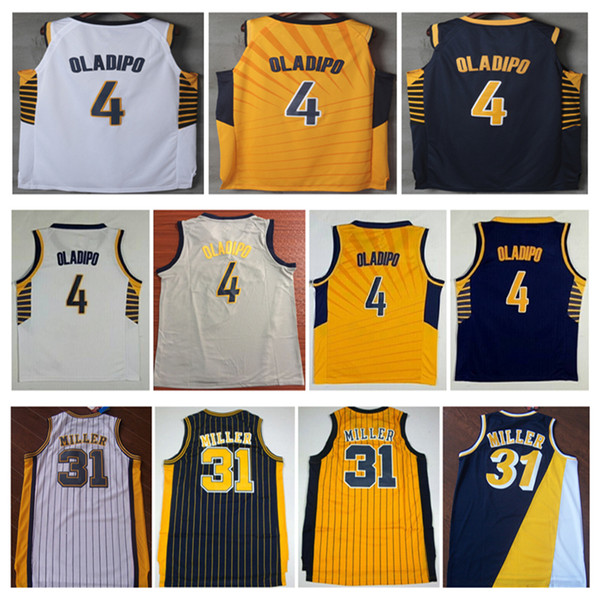 check out a60cb 097c3 2019 2019 New Stitched 4# Victor Oladipo City Basketball Jersey #31 Reggie  Miller Shirt Suture Embroidery Jersey Size S XXL From Csy333, $23.01 | ...