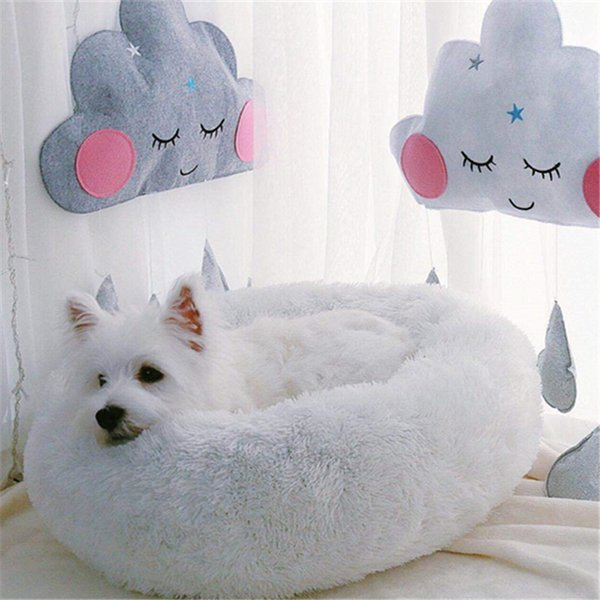 Round Dog Bed Non-slip Washable Cat Puppy Small Dog House Bed Winter Warm Super Soft Cotton Mats Sofa For Chihuahua