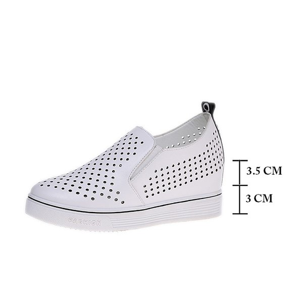 Hot Sale-Dress Shoes VIGOR FRESHNESS Pumps Women Wedges Platform Summer Women Height Increasing Cutout Wedding Party Silver W269