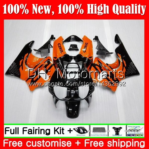 Body For HONDA CBR 893RR Orange black CBR900RR CBR893RR 89 90 91 92 93 70MT4 CBR900 CBR893 RR 1989 1990 1991 1992 1993 Fairing Bodywork