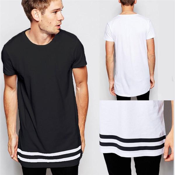 f49f0d463672f 2019 мода мужская футболка длинная футболка мужская одежда изогнутые подол  длинная линия футболка хип-хоп
