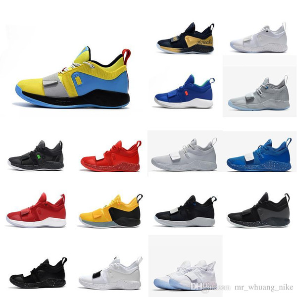 Mens Paul George basketball shoes for sale new arrival PG2.5 Black White Team Red Blue youth kids PG 2 elite sneakers tennis PG2 with box