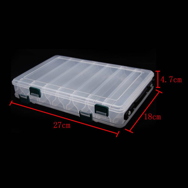 PP Transparent Visible Plastic Fishing Lure Box Compartments with Fishing Tackle Double sided for anglers Hot