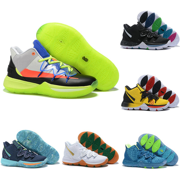 2019 Kyrie 5 Basketball Shoes Men Kyrie Irving Sneakers Sports Trainers Athletic Shoes Black White Orange Yellow