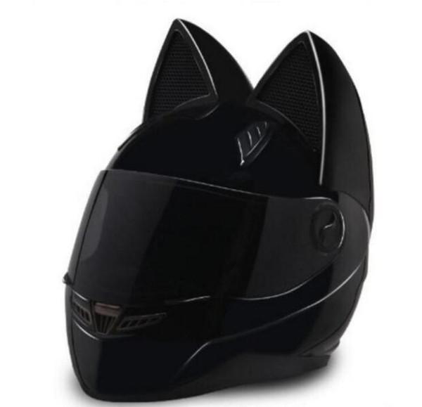 Casco da moto 2018 casco da orecchio in feltro di lana con personalità 4 colori rosa giallo nero bianco