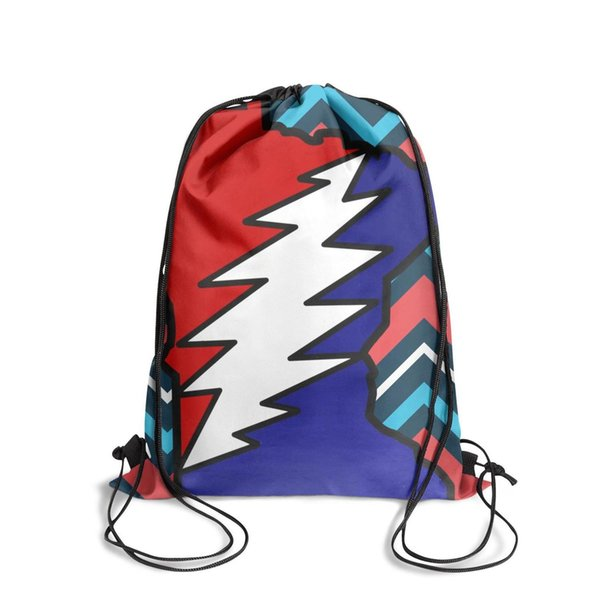 Wisconsin grateful deadFashion sports belt backpack, design pop pattern durable and convenient string package, suitable for sports