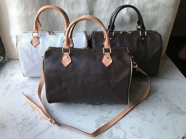 High quality oxidize cowhide speedy 25cm 30cm 35cm Hot Sell Fashion bag women bag Shoulder Lady Totes handbags bags free Hot stamping