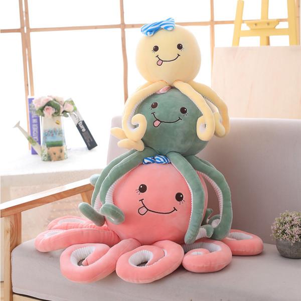 1 pz 40/50/70 cm Bella simulazione Polpo Peluche Cuscino Peluche Oceano Animali Giocattolo per bambini Bambole Morbido Carino Accessori per la casa Regali