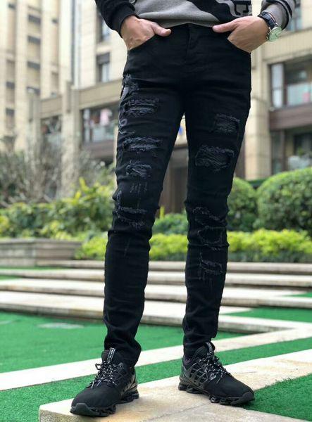 Moda nuovi jeans da uomo firmati Jeans Slim Fit Biker Biker Jeans Hip Hop Designer Designer Jeans