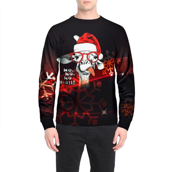 Мужчины куртка Рождество костюм Альпака смешной печать толстовка плюс размер взрослого пальто Multy Размеры Праздник Толстовка Хеллоуин костюм