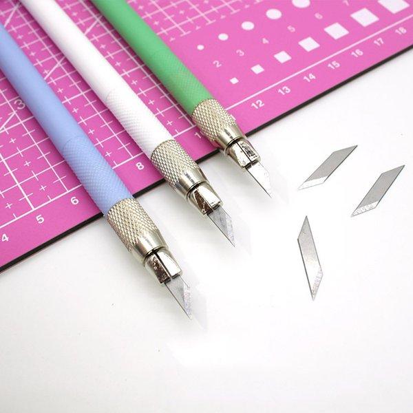 Bildungsbüro Liefert Metall 12 Klingen Schnitzen Papier Cutter Handwerk Messer DIY Schneidwerkzeuge Utility Messer für Schreibwaren Künstler