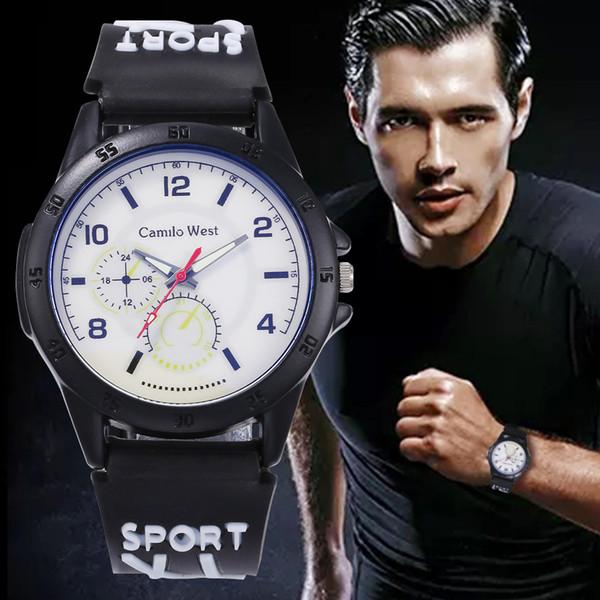 Moda Stil Lüks İzle Erkekler kol askeri ordu İzle suya dayanıklı Iş Spor Saatler relogio masculino