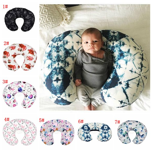 best selling 7styles Feeding Nursing Pillowcase U Shaped Baby Food Maternity Case Neck Care Newborn Girls Boys Breastfeeding bed Pillow Cover FFA2886-1