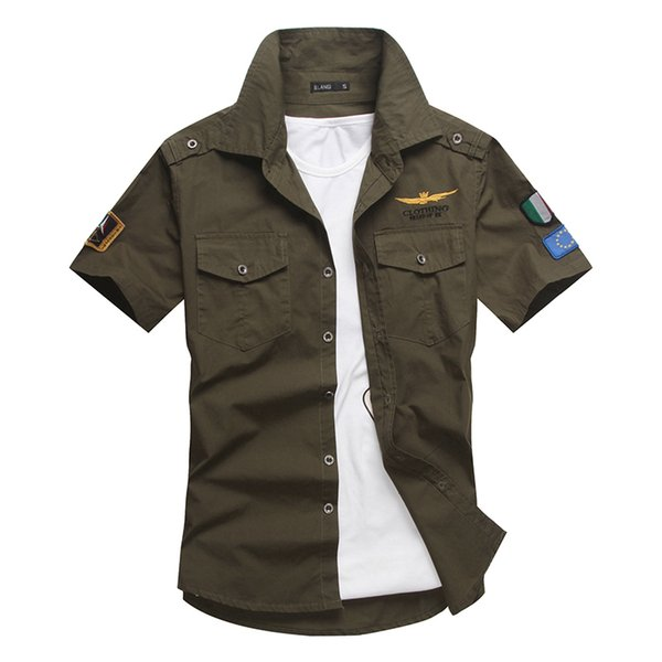 Fashion Airforce Uniform Military Short Sleeve Shirts Mens Dress Shirt Free Shipping Bcy60a Military Uniform Shirt