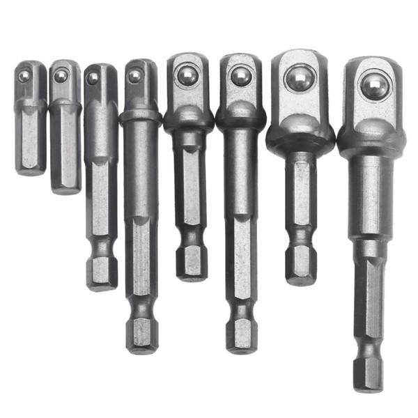 "Tools Drill Bit 8Pcs Set Nut Driver Power Drill bits Socket Bit Hex Adapter Extension Set Socket Wrench Adapter 1/4\"""