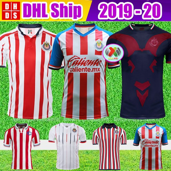 DHL Ücretsiz Nakliye 2019 2020 LIGA MX Kulübü Chivas de Guadalajara Futbol Forması Kiti 18 19 20 Camisa de Futebol Ev Formalar Futbol Gömlek