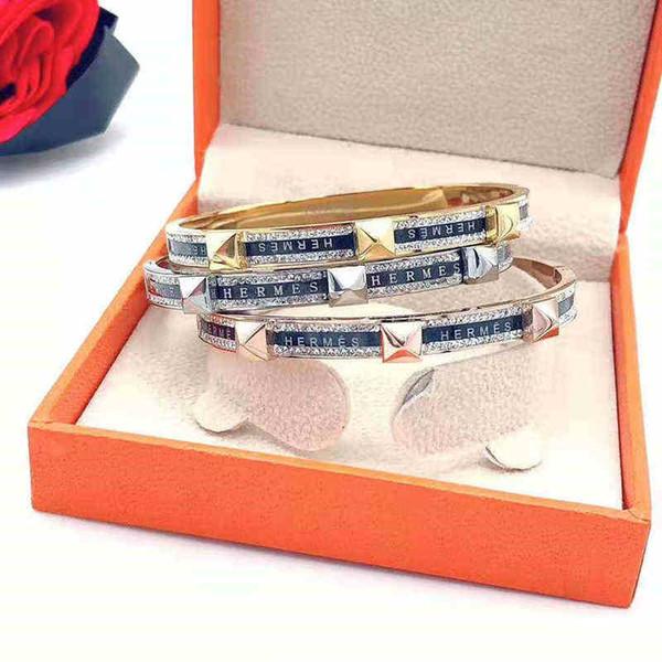 Pulseira de esmalte de moda Novo padrão de luxo Pulseiras para as mulheres Jóias partido jóias bilionário Lady Boate h Presente frete grátis