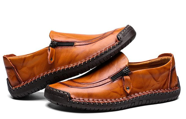 best selling Men's business casual shoes hand-stitched cow leather shoes large size custom shike60