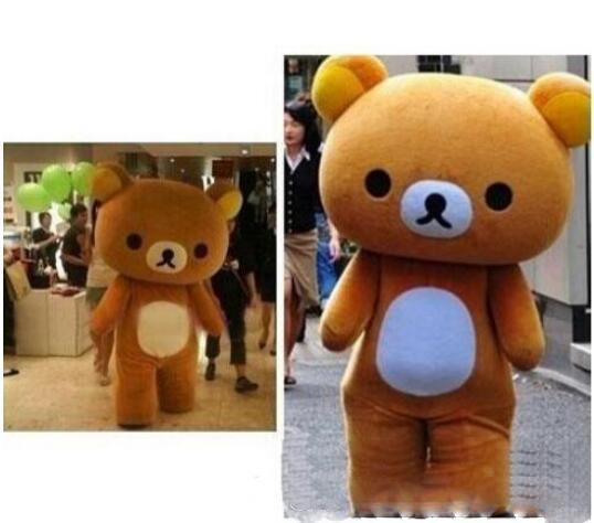 2019 nuovo caldo personalizzato Rilakkuma / orso pigro costumi costumi vestito trasporto libero di sme