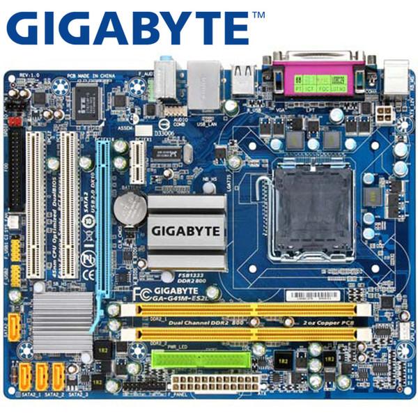 GIGABYTE GA-G41M-ES2L Scheda madre desktop G41 Socket LGA 775 per Core 2 DDR2 8G Micro ATX originale usato G41M-ES2L Mainboard