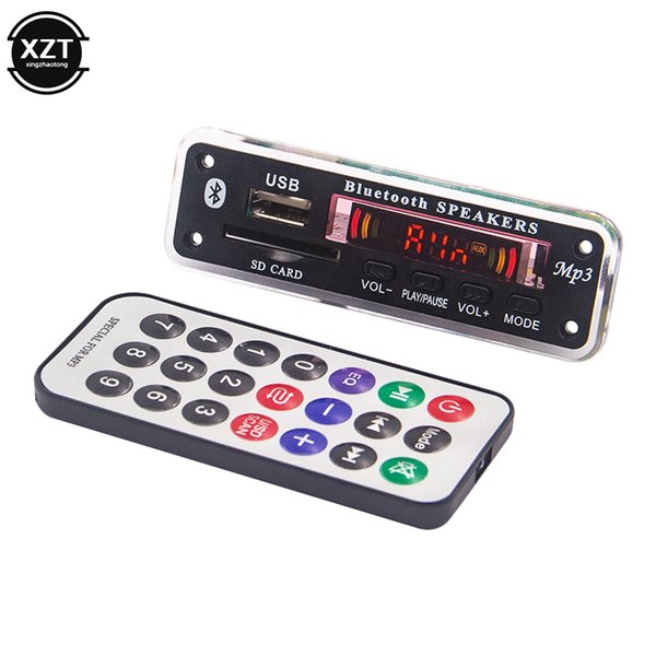 Wireless Bluetooth 5.0 5V 12V MP3 WMA Decoder Board Audio Module USB SD AUX FM music Player Radio with Remote Control For Car