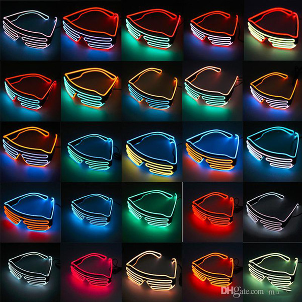 EL Tel Işık LED Gözlük Parlak Işık Parti Gözlük Kulübü Bar Performans Glow Parti DJ Dans Gözlükler light up çocuklar oyuncaklar