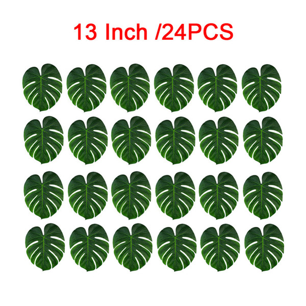 New 24pcs Artificial Leaf Tropical Palm Leaves Simulation Leaf For Hawaiian Luau Theme Party Home Garden Decoration