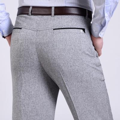 Toptan-Yaz Erkek Takım Elbise Pantolon Erkek Ipek Pantolon Marka İş erkek Pantolon Batı Tarzı Pantolon Resmi Düğün Elbiseleri Boyutu 30-40