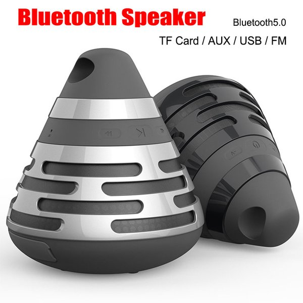 New Pyramid Cone Gift Wireless Bluetooth Speakers BS06 Portable Stereo Sound Subwoofer BS-06 USB/TF card FM Radio Hands free MP3 Player