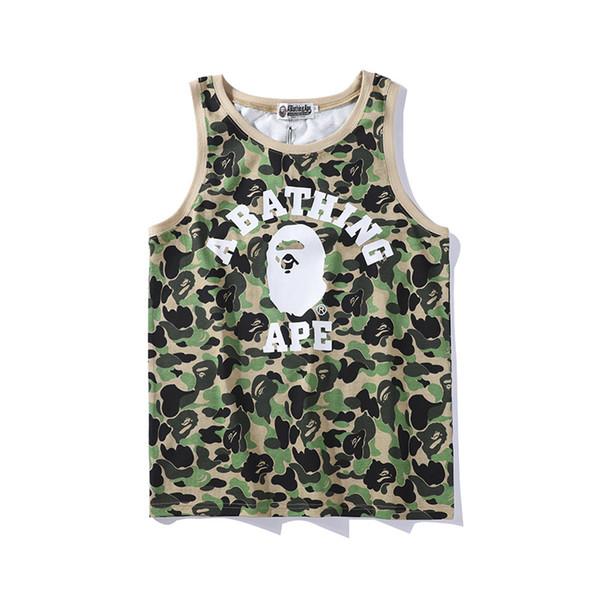 Summer Men Women Camo Cartoon Print Round Neck Vest T-shirt Teenager Green Pink Camo Hip Hop Short Sleeve T-Shirts