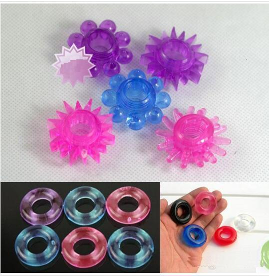 Silicone Time Delay Penis Ring Cock Rings Adult Products Male Sex Toys Crystal Ring Color Random