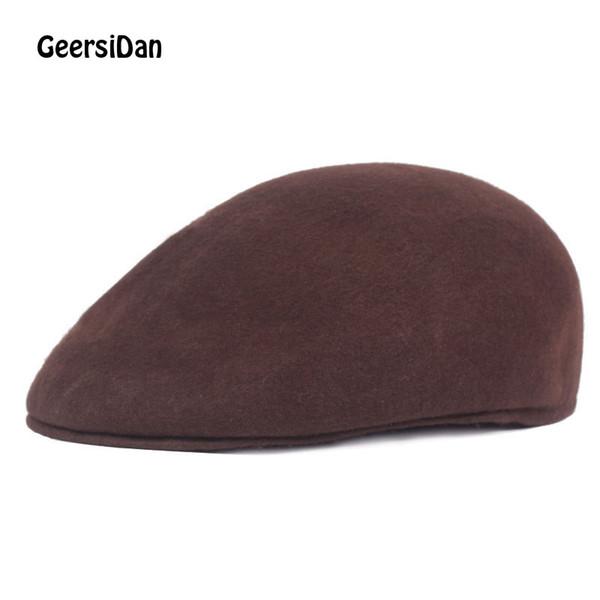 GEERSIDAN 2019 Top qualiy winter wool Beret Cap For men women Red Spring Peaked Caps Keep warm Unisex Beret Hats Casquette Cap