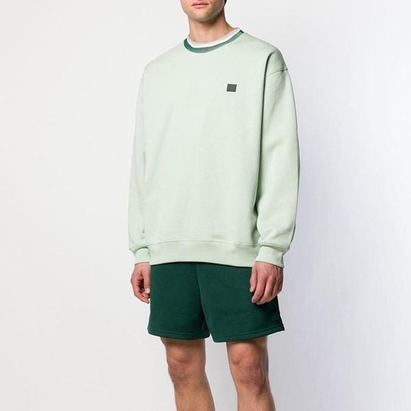 19SS Pure Color Sweat Noir Blanc Vert Sweat-shirt Homme Femme Printemps Automne rue Pull à manches longues HFHLWY024